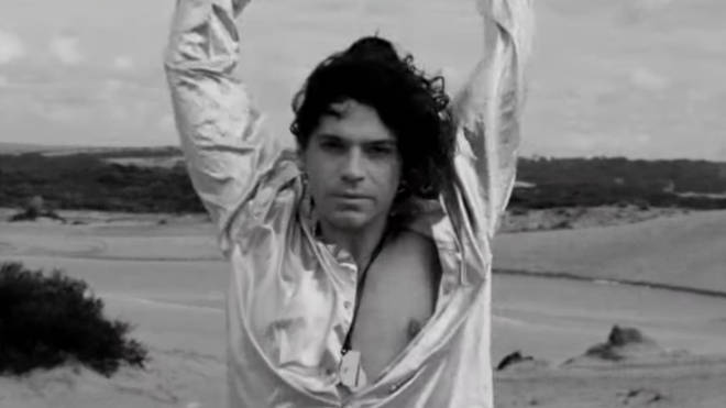 A still of the late INXS frontman Michael Hutchence in Mystify documentary