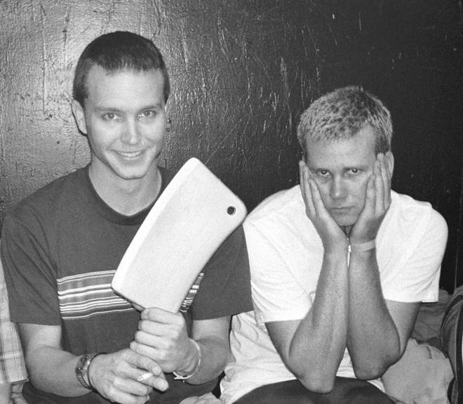 Blink 182 original members Mark Hoppus and Tom DeLonge
