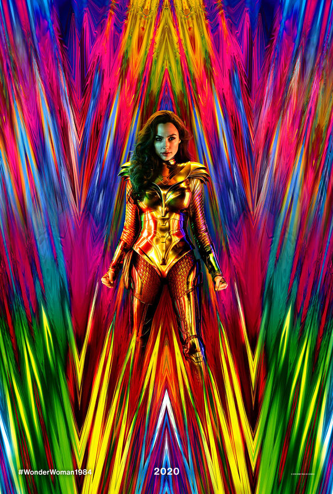 Gal Gadot in the first look poster for Wonder Woman 1984