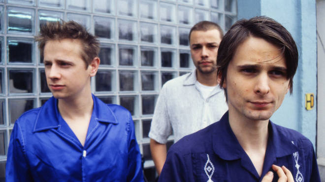 Dominic Howard, Chris Wolstenholme and Matt Bellamy of Muse in 1999