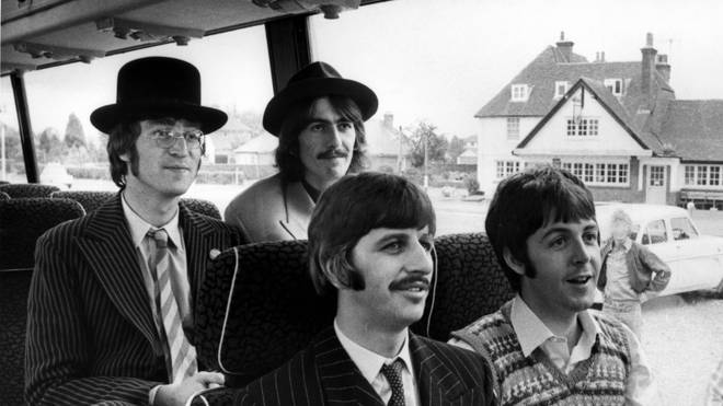 The Beatles in 1967: John Lennon, George Harrison, Ringo Starr and Paul McCartney