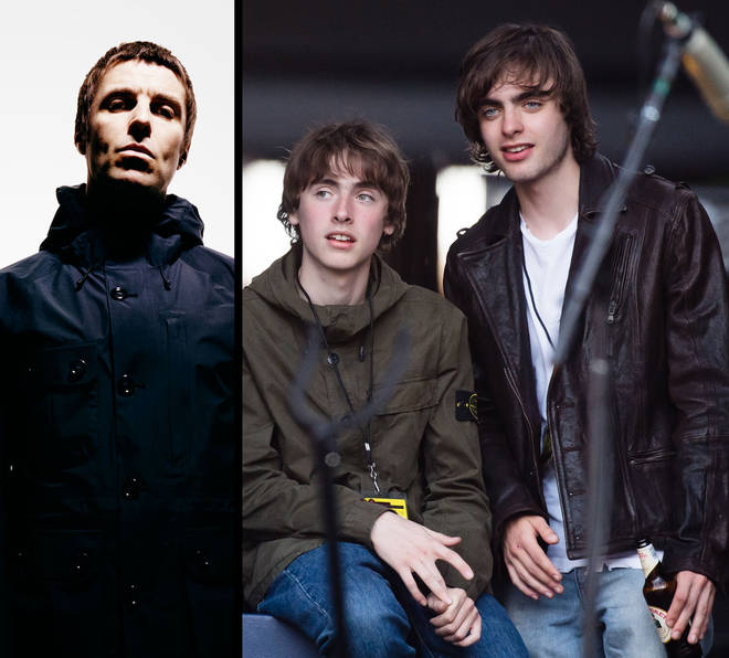 Liam Gallagher and his sons Gene and Lennon Gallagher