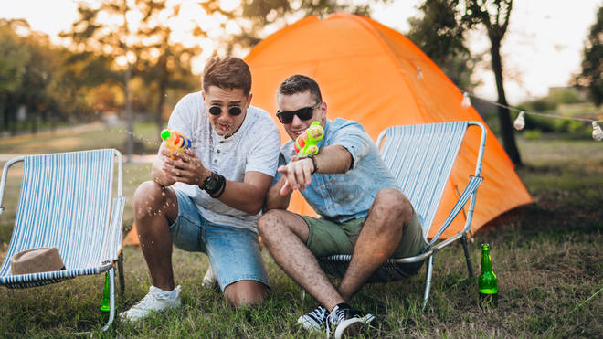 Festival goers using camping chairs. They know the score.
