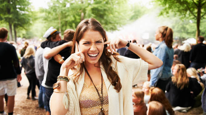 Festivals can be noisy places. Or maybe she shouldn't try and make a call by the rave tent?