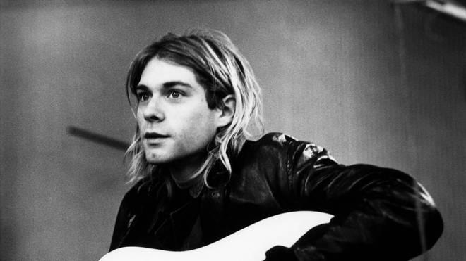 Kurt Cobain of Nirvana recording in Hilversum Studios, 1991