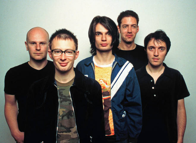 Radiohead pictured in Los Angeles in June 1997