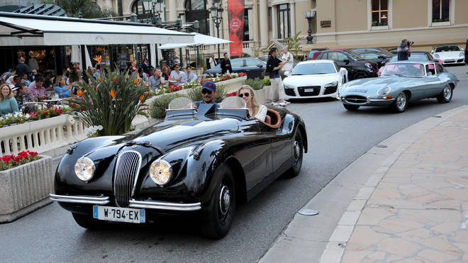 David Gandy drives a Mark II Jaguar not unlike Noel Gallagher's expensive mistake, here in May 2019