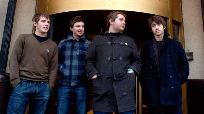 Arctic Monkeys original line-up with Jamie Cook, Matt Helders, Andy Nicholson and Alex Turner in 2005