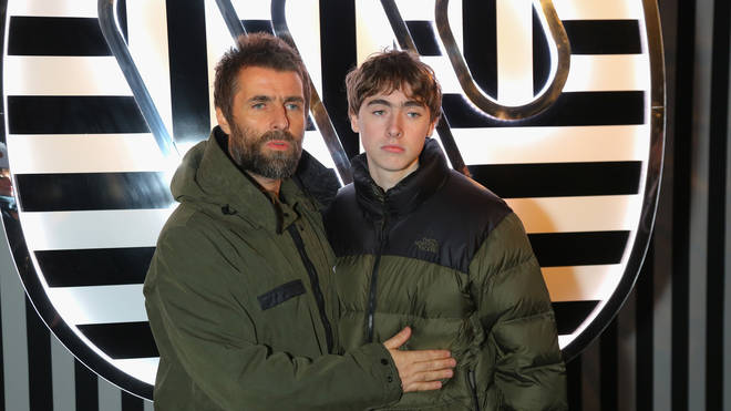 Liam Gallagher with his son Gene