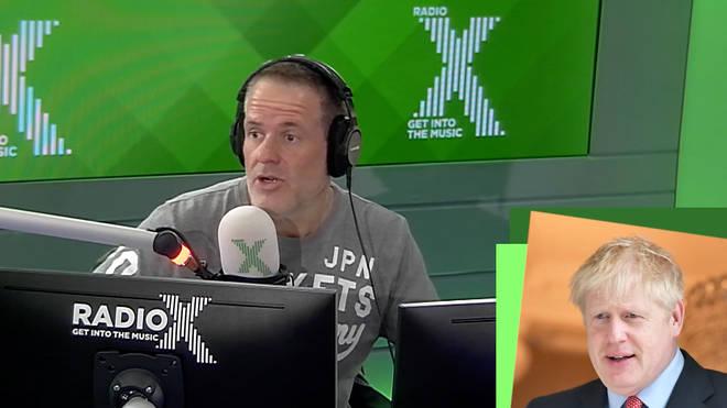 Chris Moyles rants about Boris Johnson on The Chris Moyles Show
