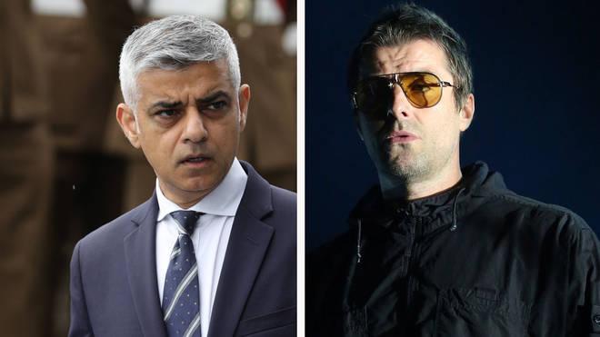 London Mayor Sadiq Khan and Liam Gallagher