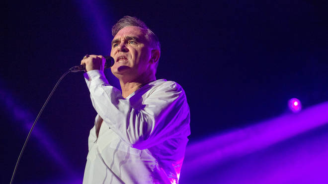 Morrissey onstage in 2014