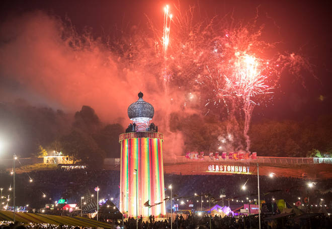 Festival Goers Enjoy Glastonbury