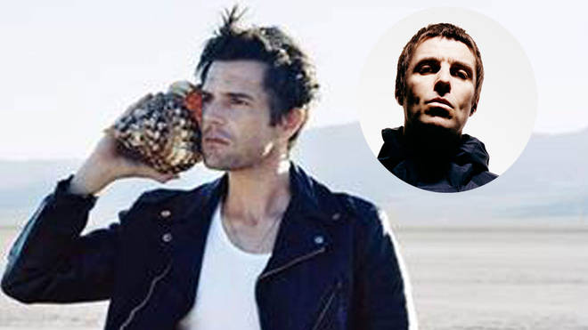 The Killers frontman Brandon Flowers with Oasis legend Liam Gallagher inset
