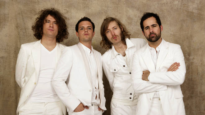 The Killers in 2005: Dave Keuning, Brandon Flowers, Msrk Stoermer and Ronnie Vannucci Jr