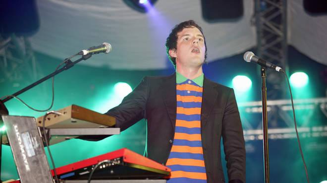 The Killers perform at the John Peel Tent at Glastonbury 2004