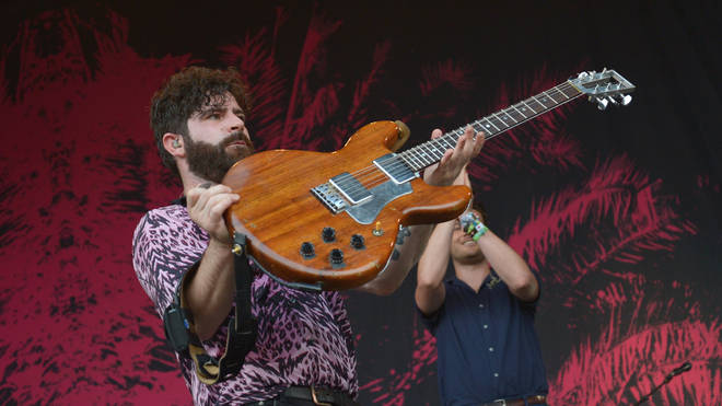 Foals play live at the Park Stage, Glastonbury 2019