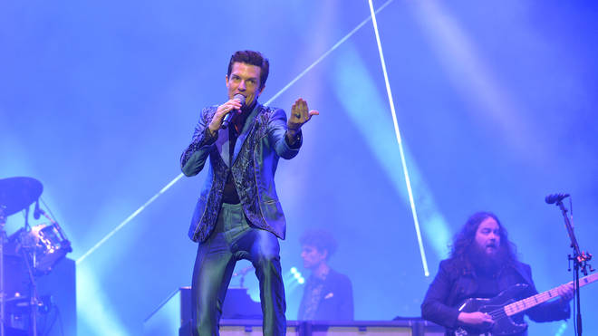 Brandon Flowers of The Killers performs live on the Pyramid stage during day four of Glastonbury Festival 2019