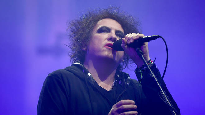 Robert Smith of The Cure performs on the Pyramid stage during day five of Glastonbury Festival 2019