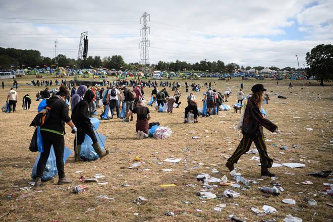 Huge clean-up effort at Glastonbury Festival 2019