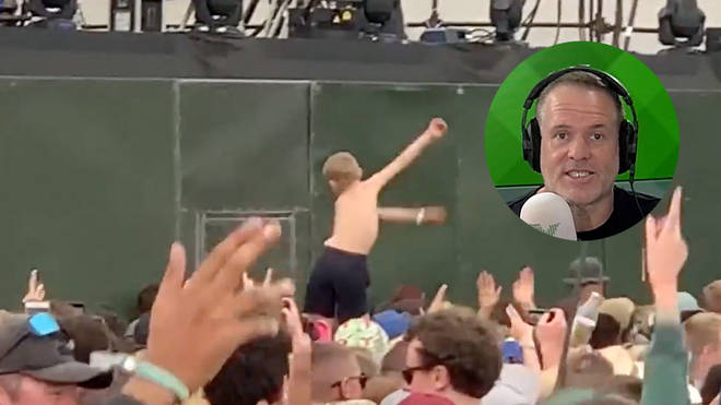 Chris Moyles wants to find this flossing kid from Liam Gallagher's Glastonbury 2019 set