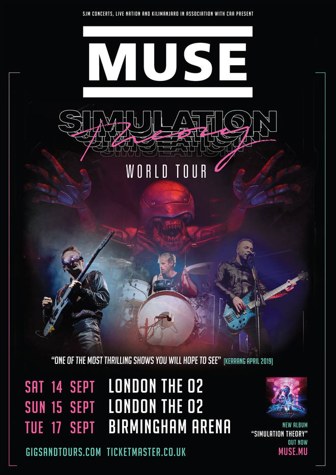 Muse tour poster