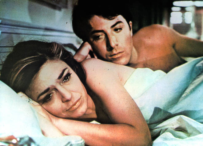 Anne Bancroft And Dustin Hoffman In The Graduate