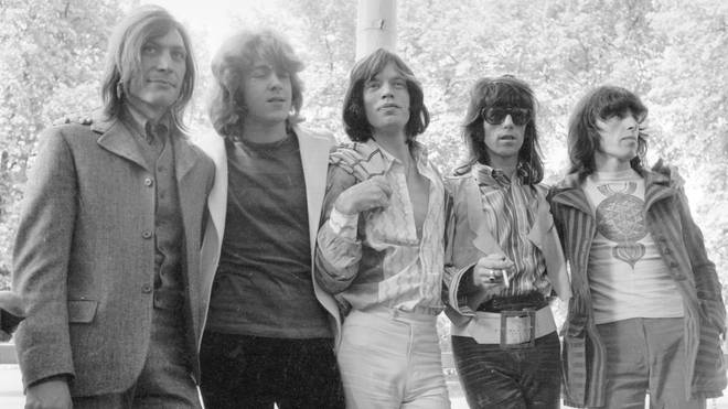 The photocall Introducing Mick Taylor (2nd Left) who took Brian Jones place in the band to press in Hyde Park 13 June 1969
