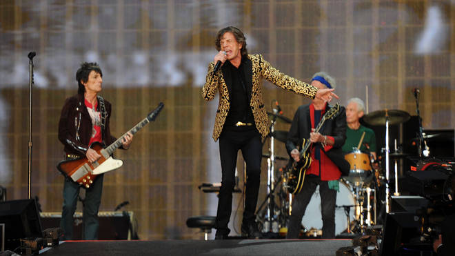 he Rolling Stones at Hyde Park, 13 July 2013: Ronnie Wood, Mick Jagger, Keith Richards And Charlie Watts