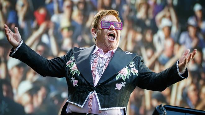 Elton John live in June 2019