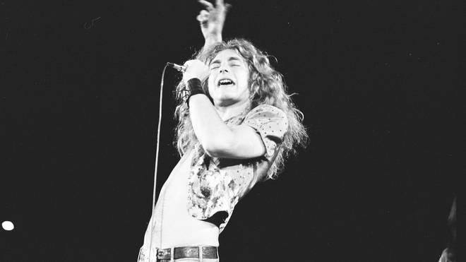 Robert Plant of Led Zeppelin live in 1972