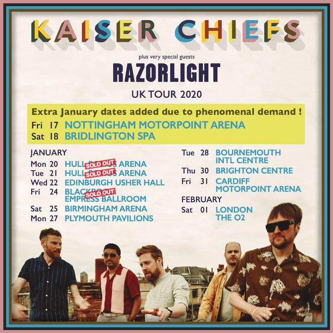 Kaiser Chiefs tour dates