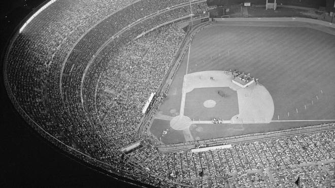 Shea Stadium during The Beatles gig at Shea Stadium, 14 August 1965