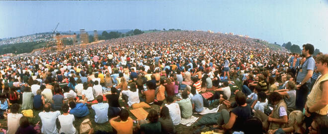 The crowd at Woodstock Festival, August 1969