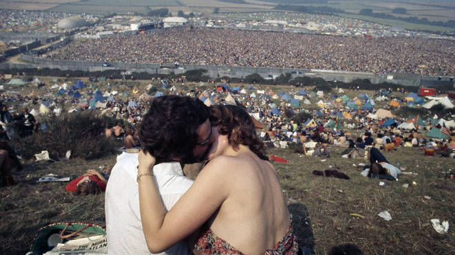 A view of the Isle of Wight Festival in August 1970