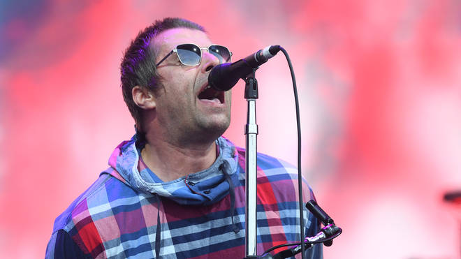 Liam Gallagher performs on the Pyramid stage during day four of Glastonbury Festival 2019