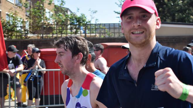 Toby Tarrant runs the London Marathon in 2018