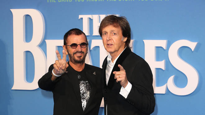 Ringo Starr and Sir Paul McCartney arrive for the world premiere of The Beatles: Eight Days A Week