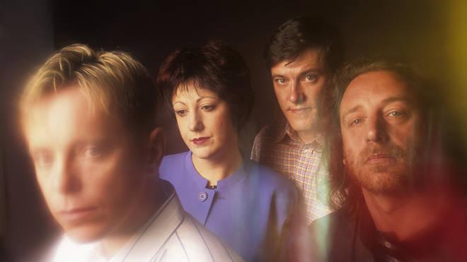 New Order in 1989: Bernard Sumner, Gillian Gilbert, Stephen Morris and Peter Hook