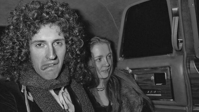Brian May of Queen with his wife Chrissie, nee Mullen, circa 1977