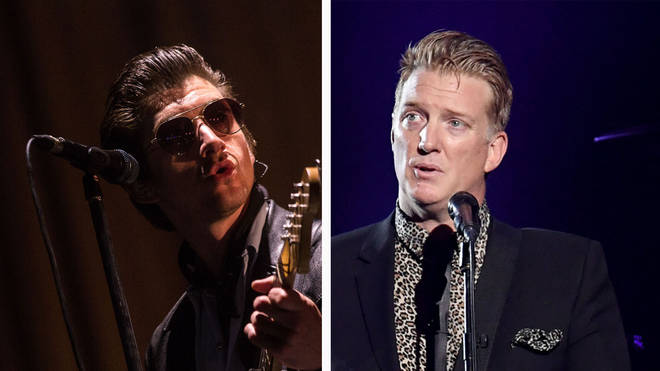 Arctic Monkeys Alex Turner and Queens of the Stone Age's Josh Homme