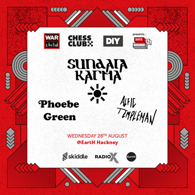 Sundara Karma, Phoebe Green and more for War Child Safe & Sound gig