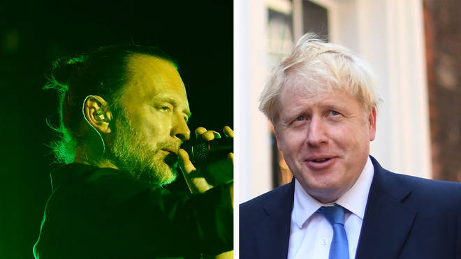 Radiohead frontman Thom Yorke and Boris Johnson