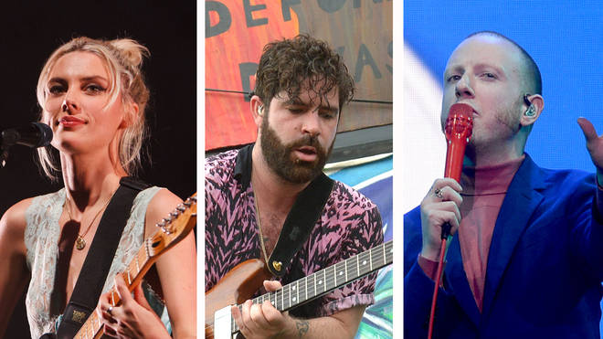 Wolf Alice frontwoman Ellie Rowsell, Foals frontman Yannis Philippakis and Two Door Cinema Club frontman Alex Trimble