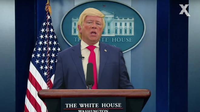 John Culshaw parodies Everybody's Free To Wear Sunscreen while impersonating Donald Trump for The Chris Moyles Show