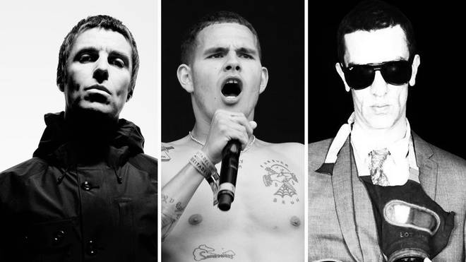 Liam Gallagher, slowthai and Richard Ashcroft