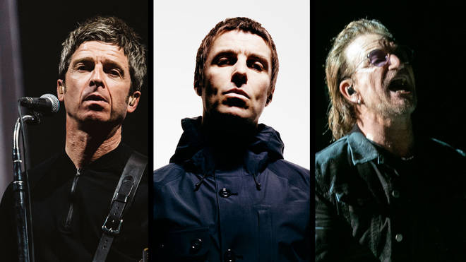 Noel Gallagher Liam Gallagher U2 frontman Bono