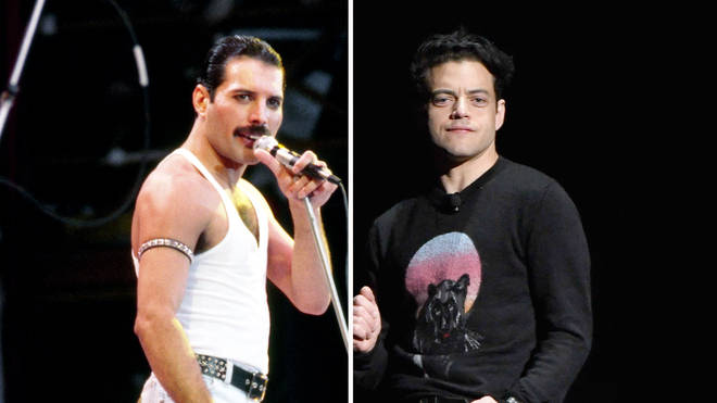 Queen's Freddie Mercury and actor Rami Malek