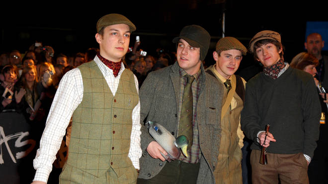 Arctic Monkeys arrive at the 2008 Brit Awards