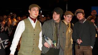 Arctic Monkeys arrive at the 2008 Brit Awards